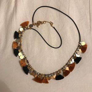 Madewell Black & Rust Tassel Necklace